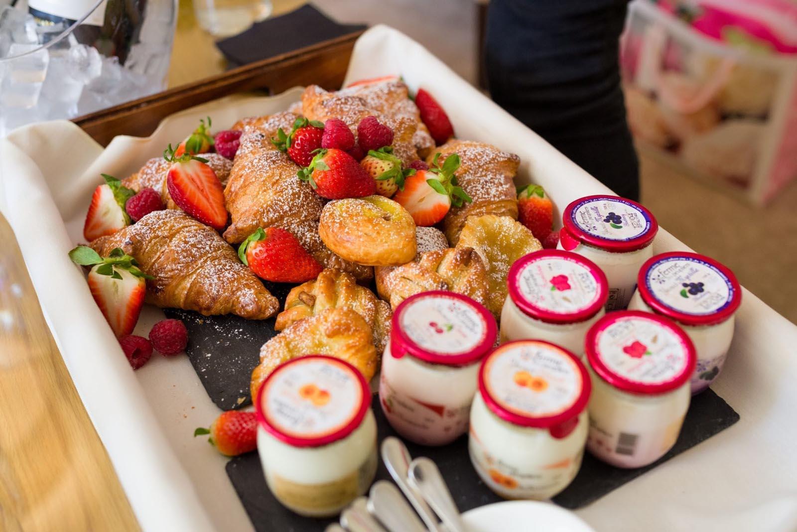 Selection of breakfast food