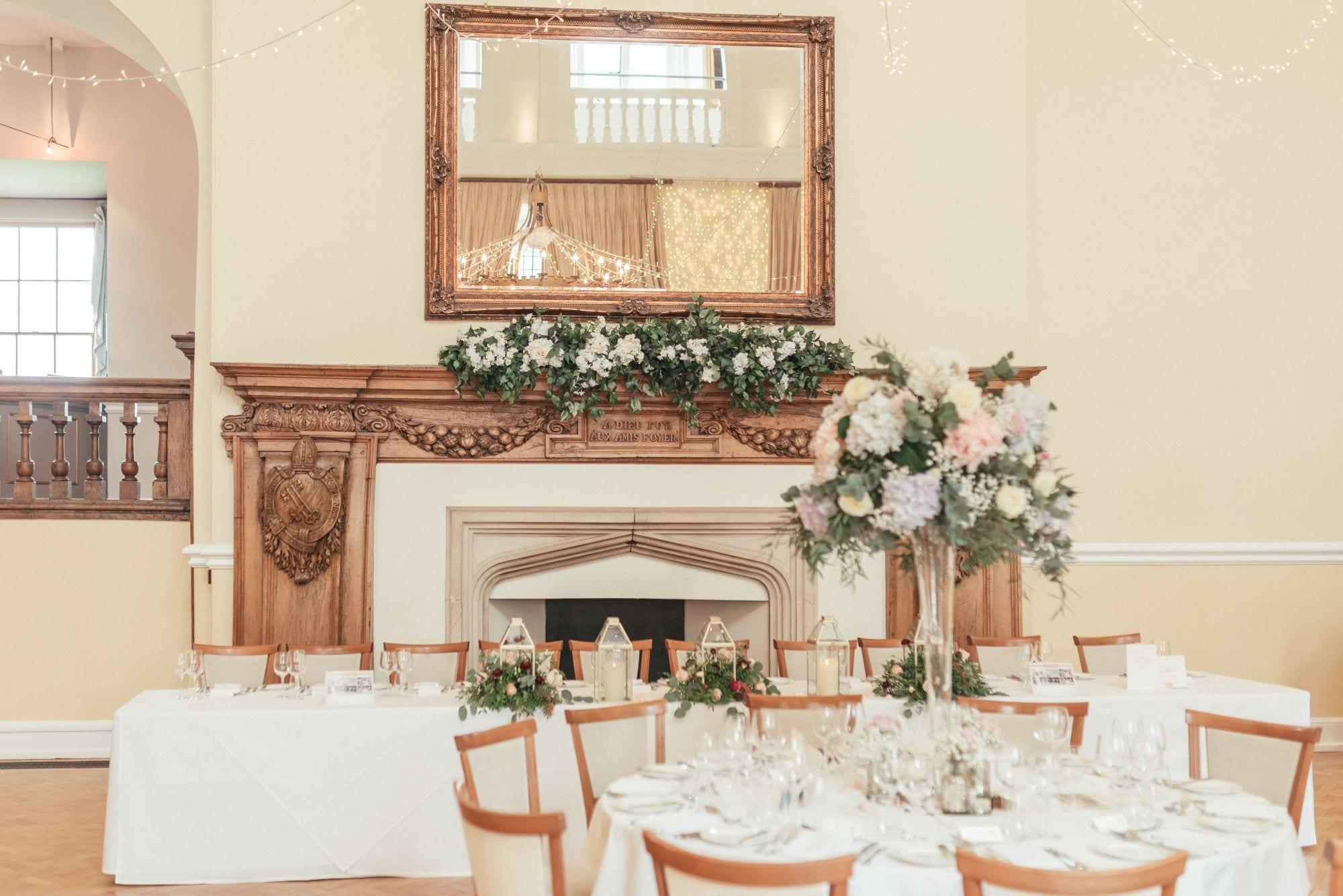 Small wedding receptions at Farnham Castle