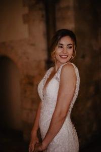 Romantic castle-worthy wedding dress