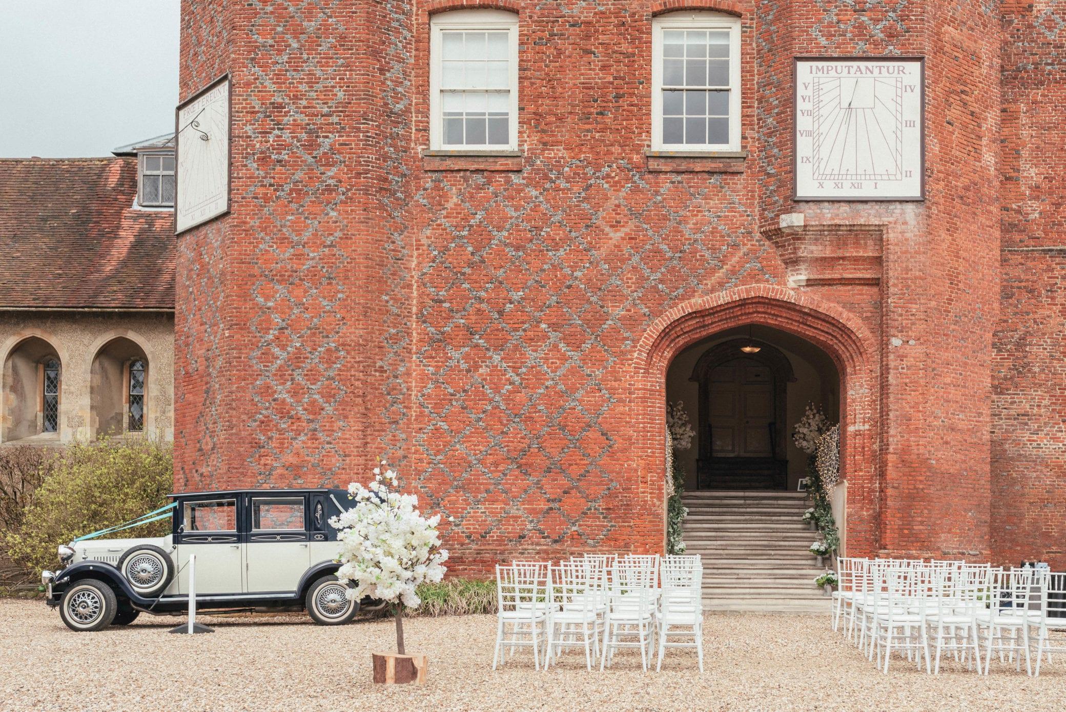 Outdoor wedding ceremonies at Farnham Castle in Surrey