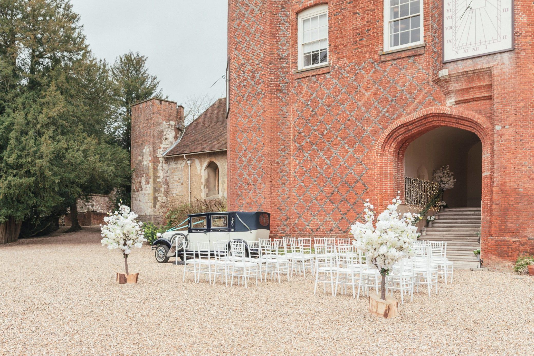 Planning an outdoor wedding at Farnham Castle in Surrey