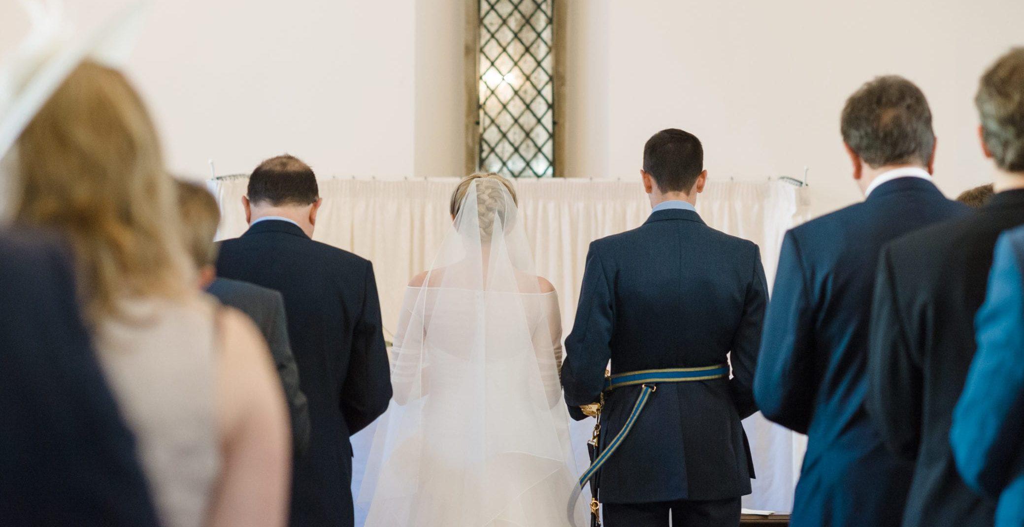 Church of England wedding ceremony at Farnham Castle