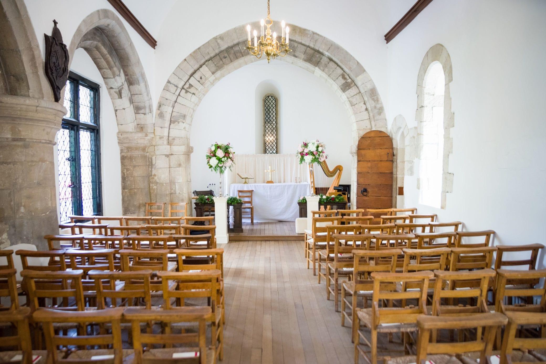 A wedding chapel within Farnham Castle
