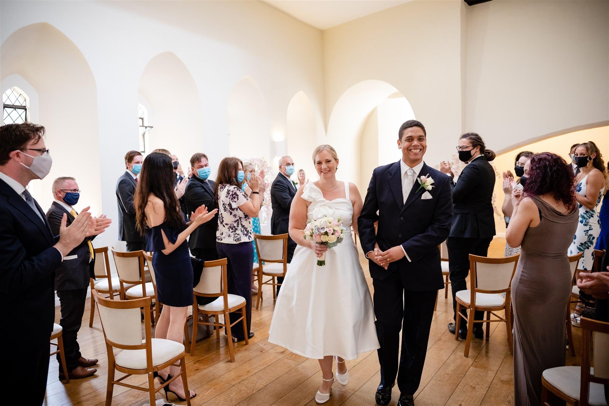 Wedding ceremony after Covid19 closure in Surrey