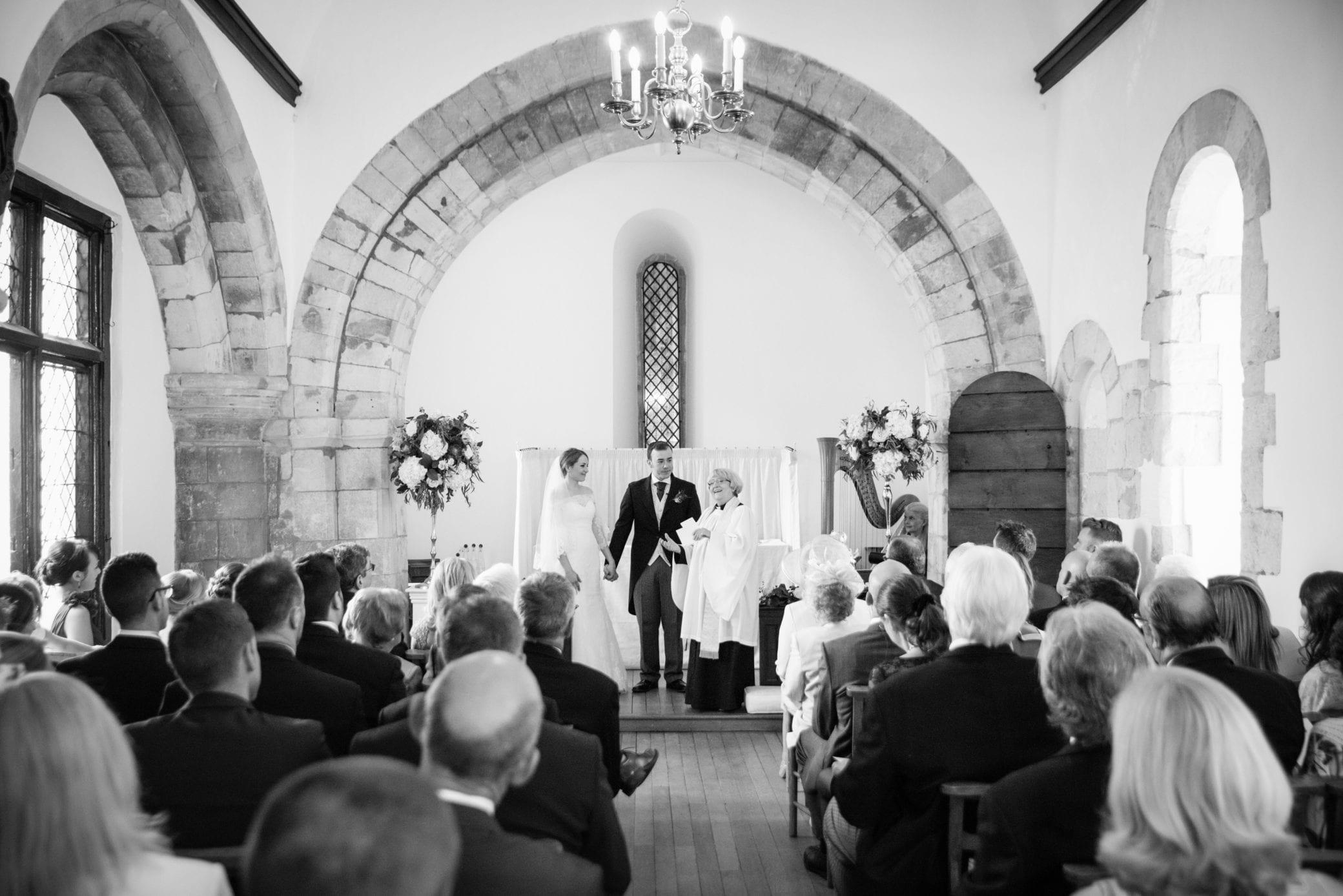 Religious wedding ceremony in Farnham