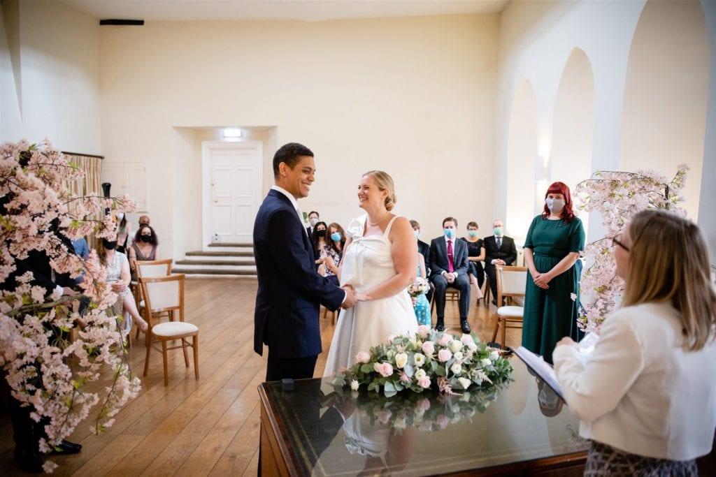 Post Lockdown wedding ceremony in Farnham Surrey