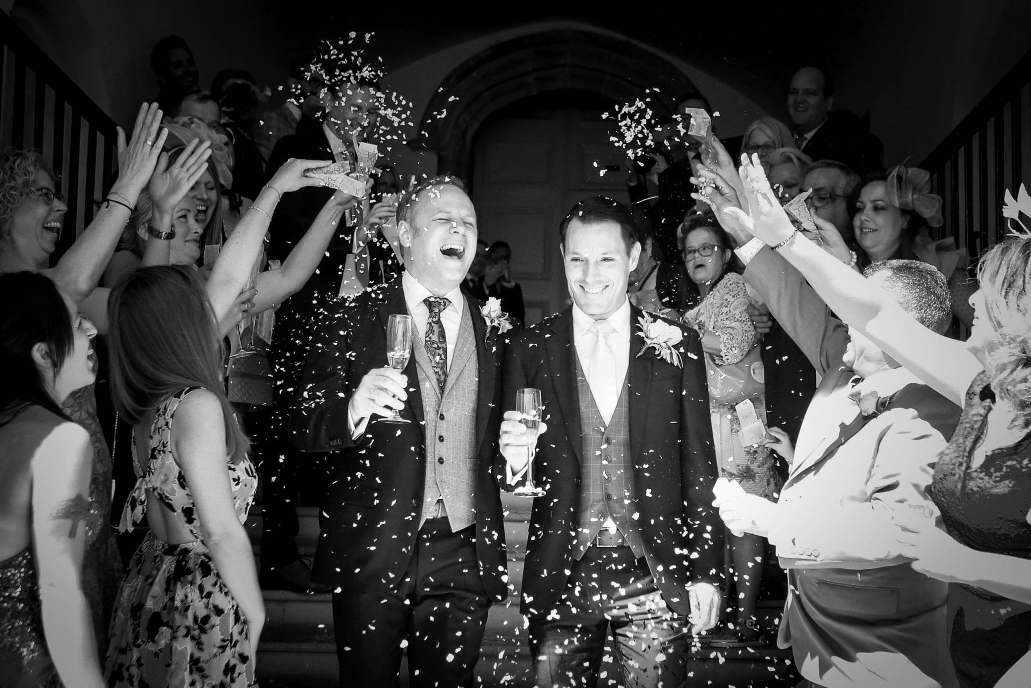 Same sex couple wedding at Farnham Castle in Surrey