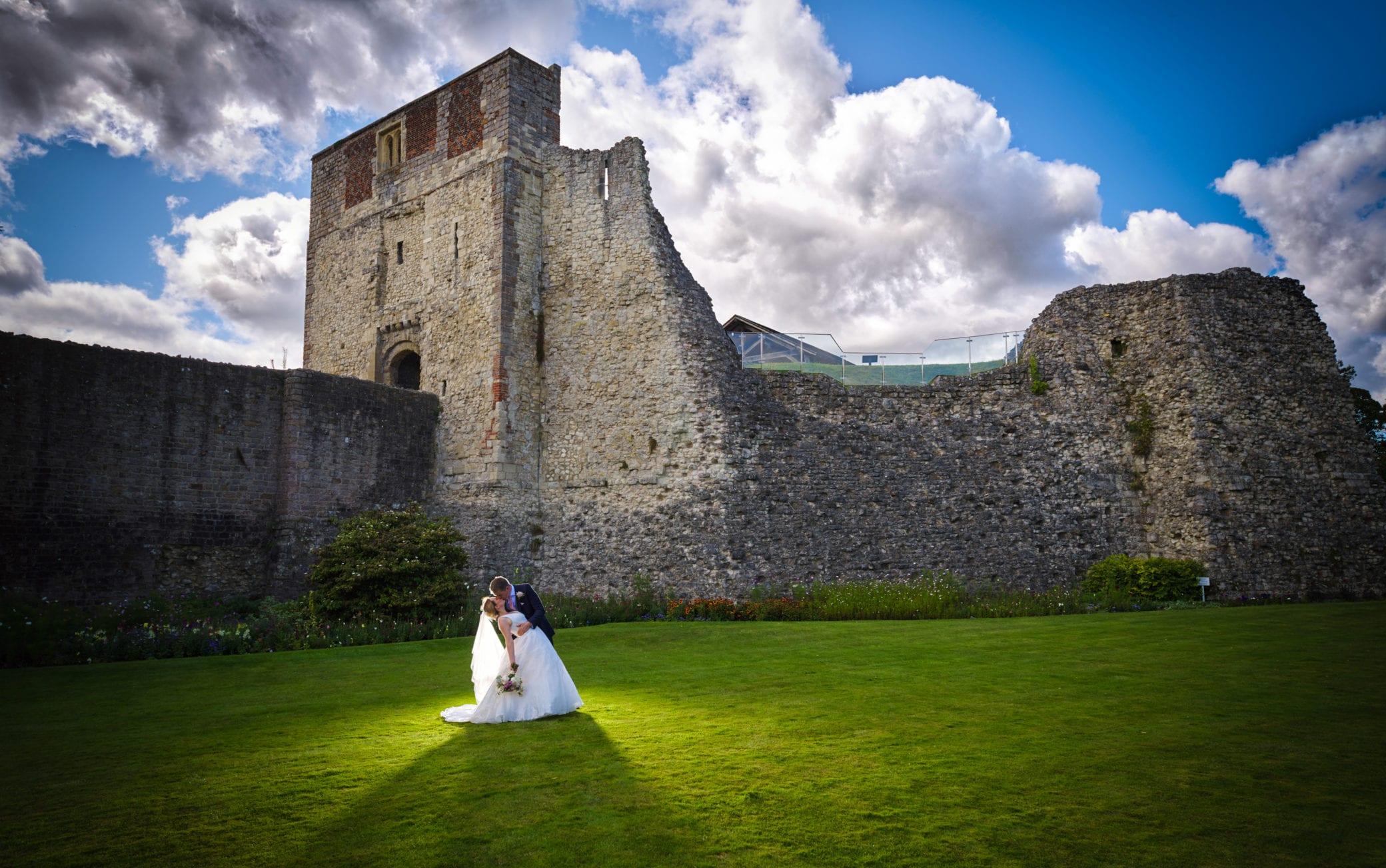 East Lawn wedding photography at Farnham Castle