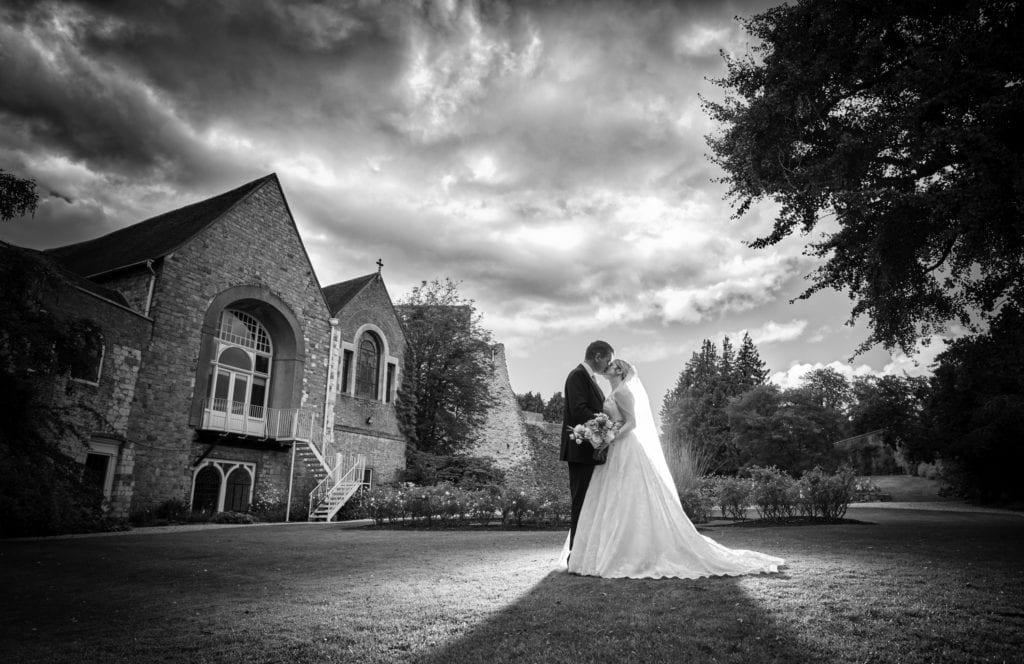 Romantic castle wedding venue in England