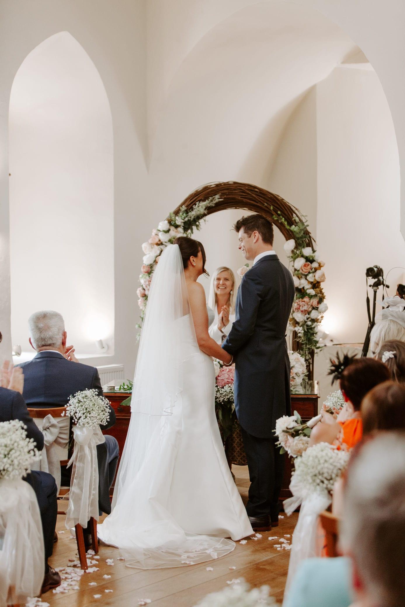 Wedding ceremonies at Farnham Castle in Surrey