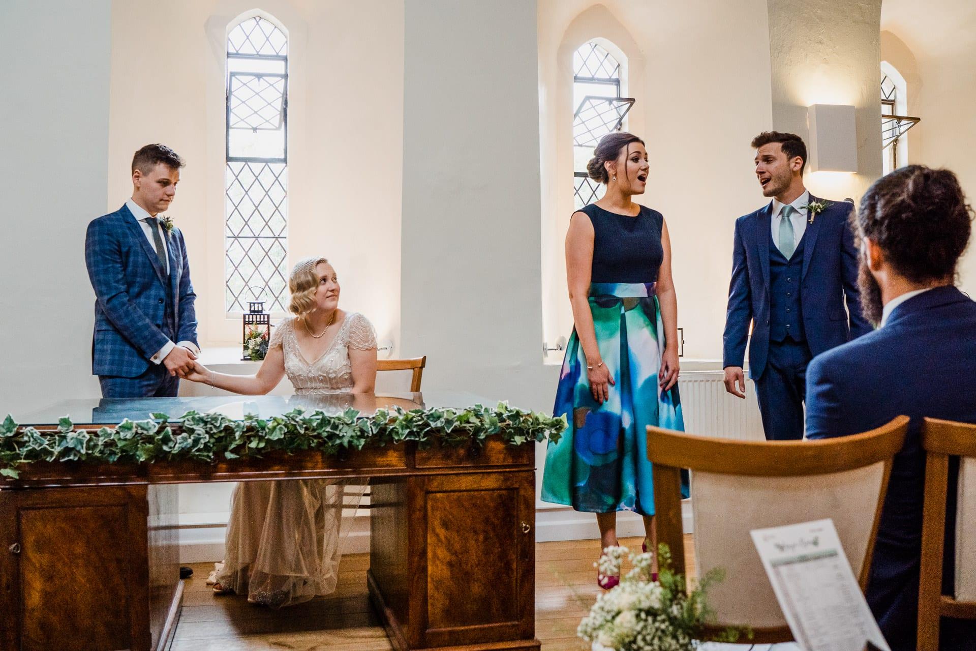 Weddng ceremony space at Farnham Castle
