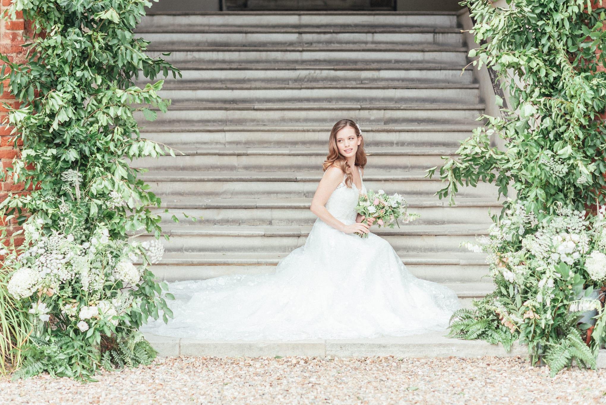 Bridal photography at Farnham Castle in Surrey