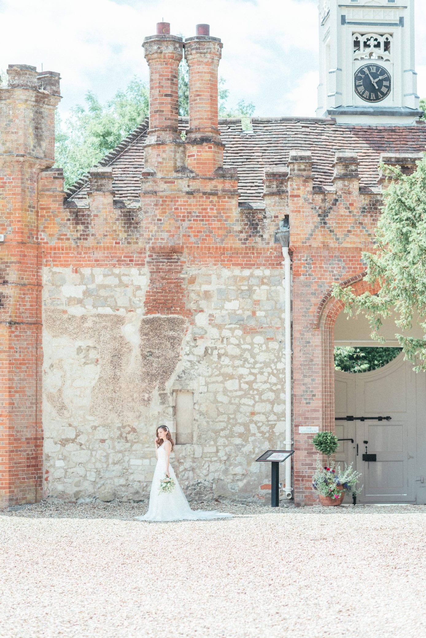Bridal preparation room at Farnham Castle in Surrey