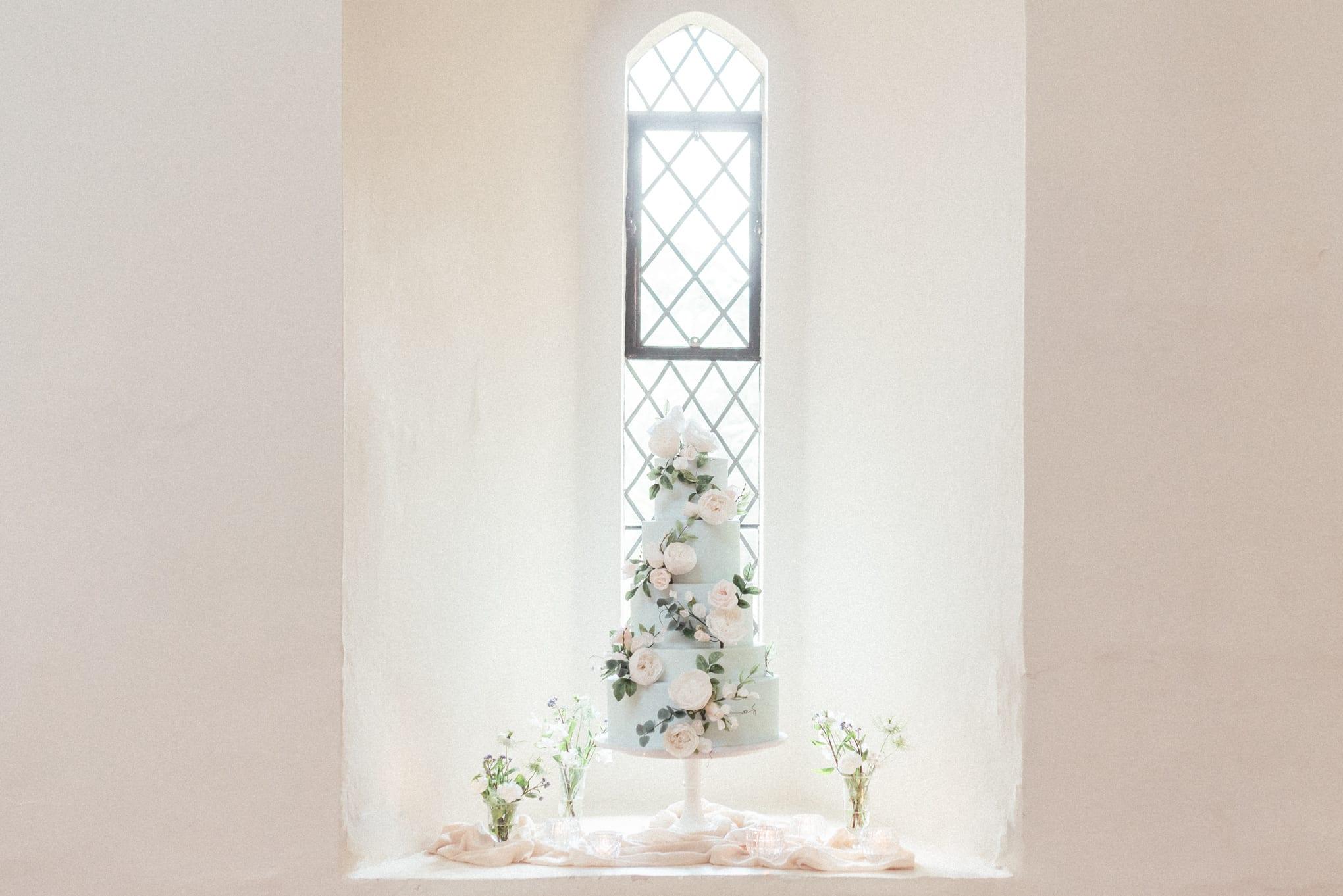 Wedding cake idea at Farnham Castle in Surrey