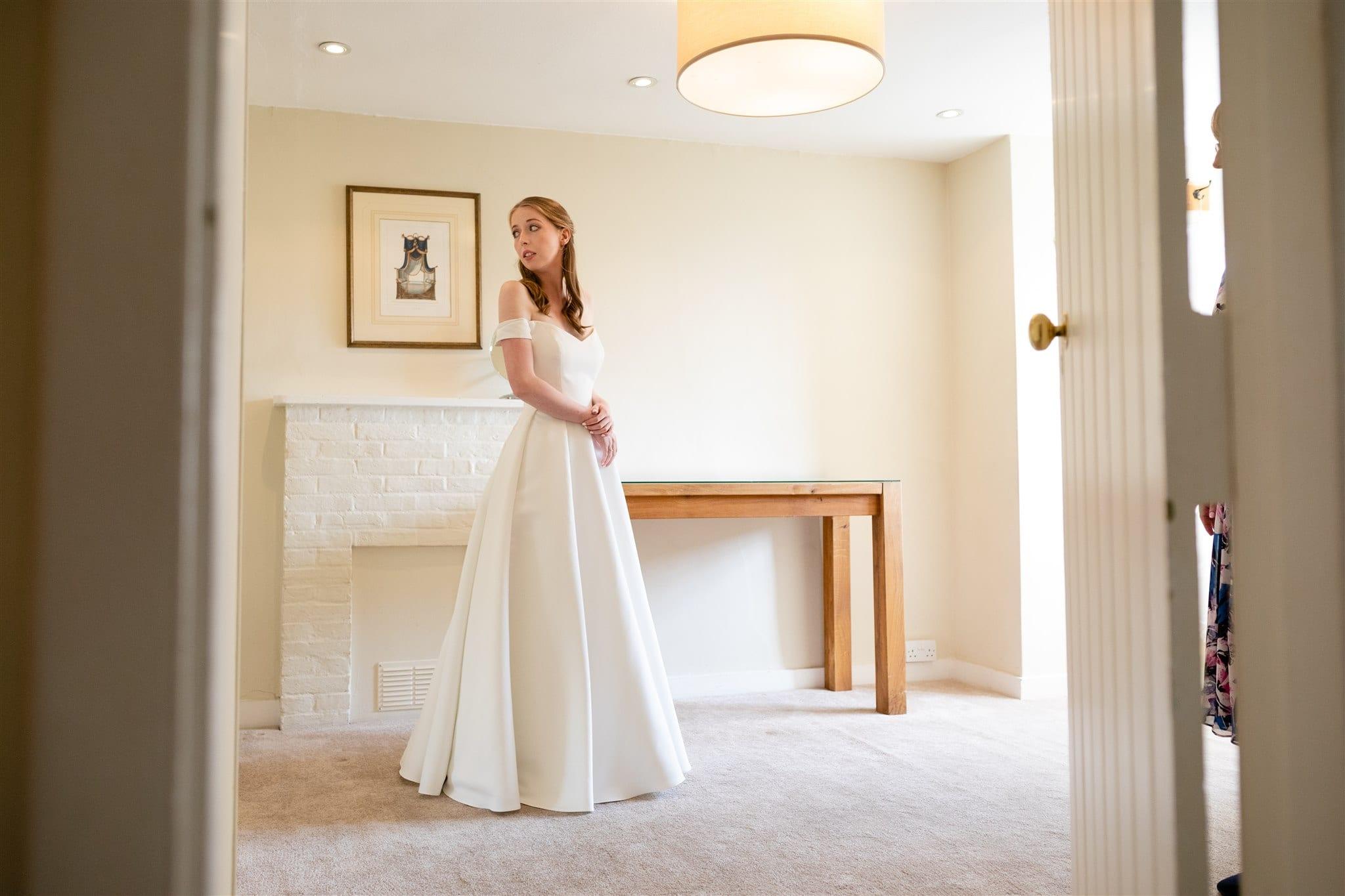 Private bridal preparation room at Farnham Castle