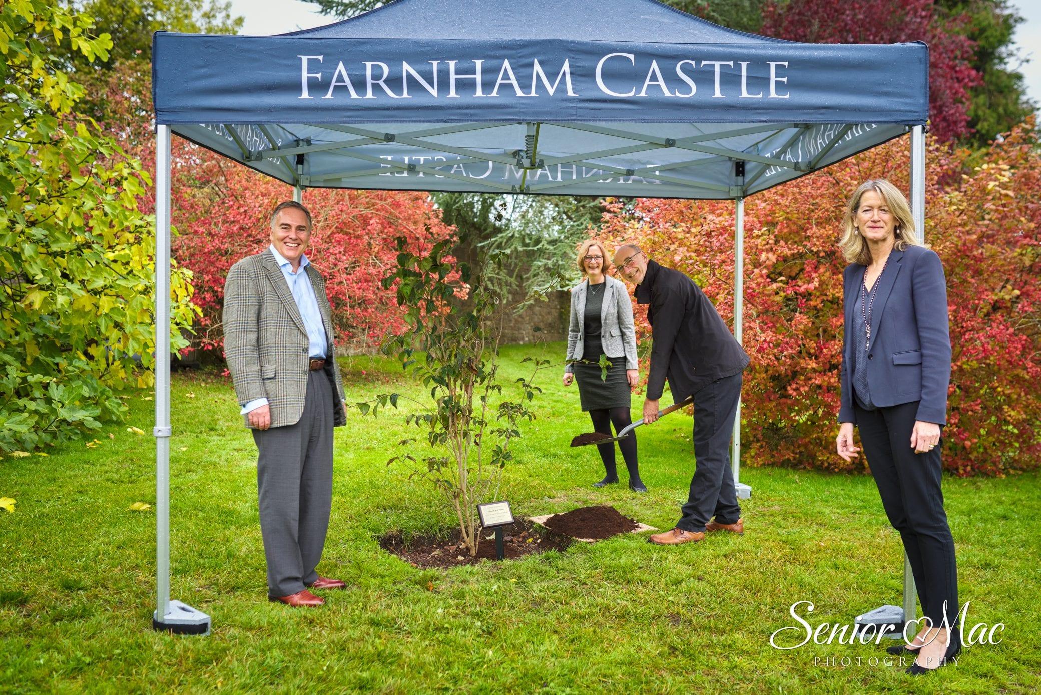 Tree planting at Farnham Castle