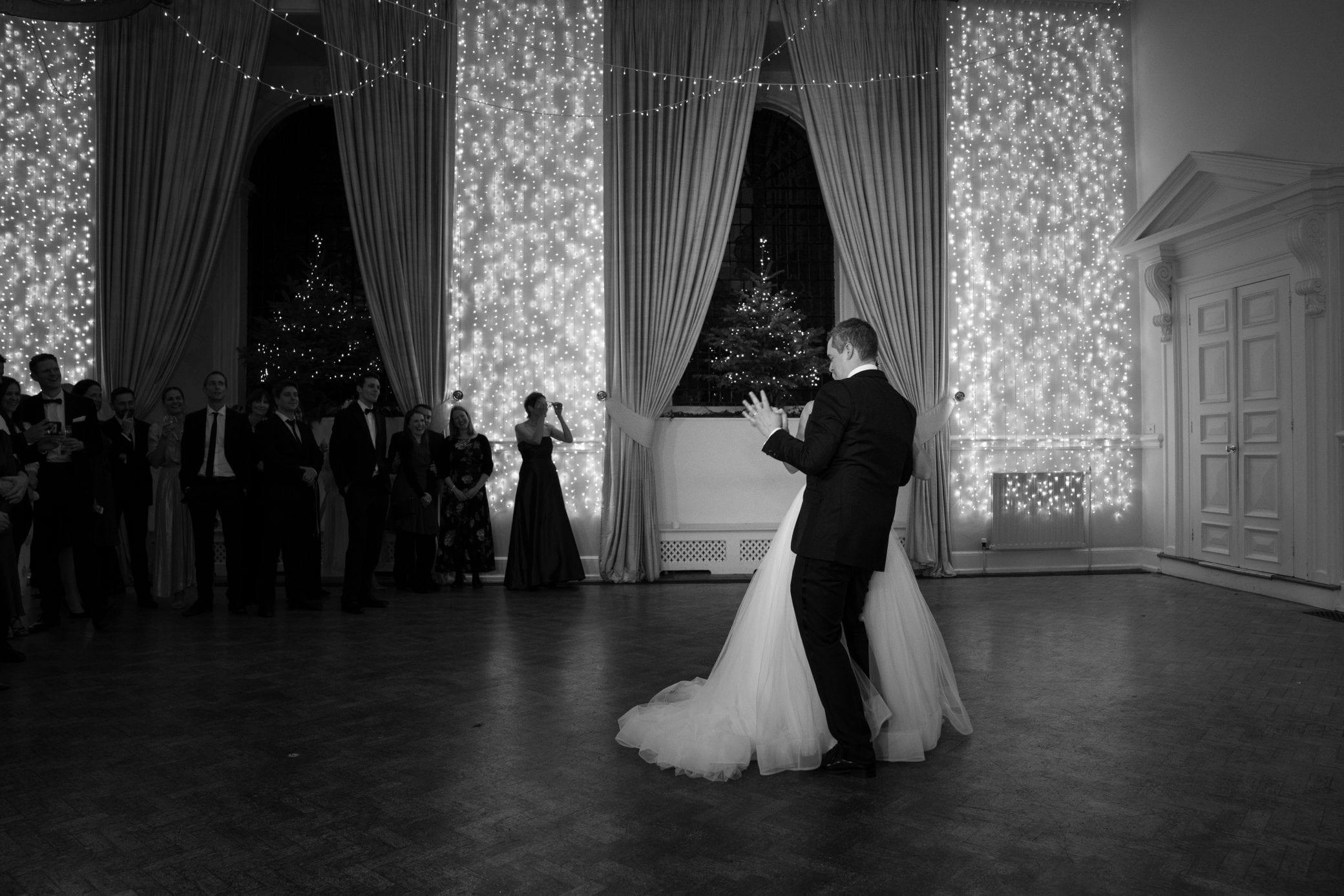 Large dance floor area at Farnham Castle in Surrey
