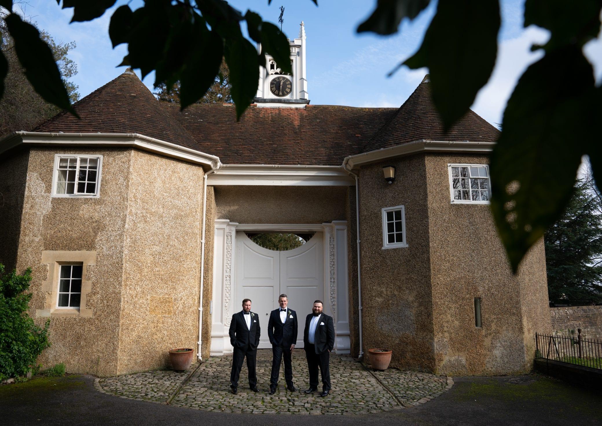 Wedding day at Farnham Castle in Surrey