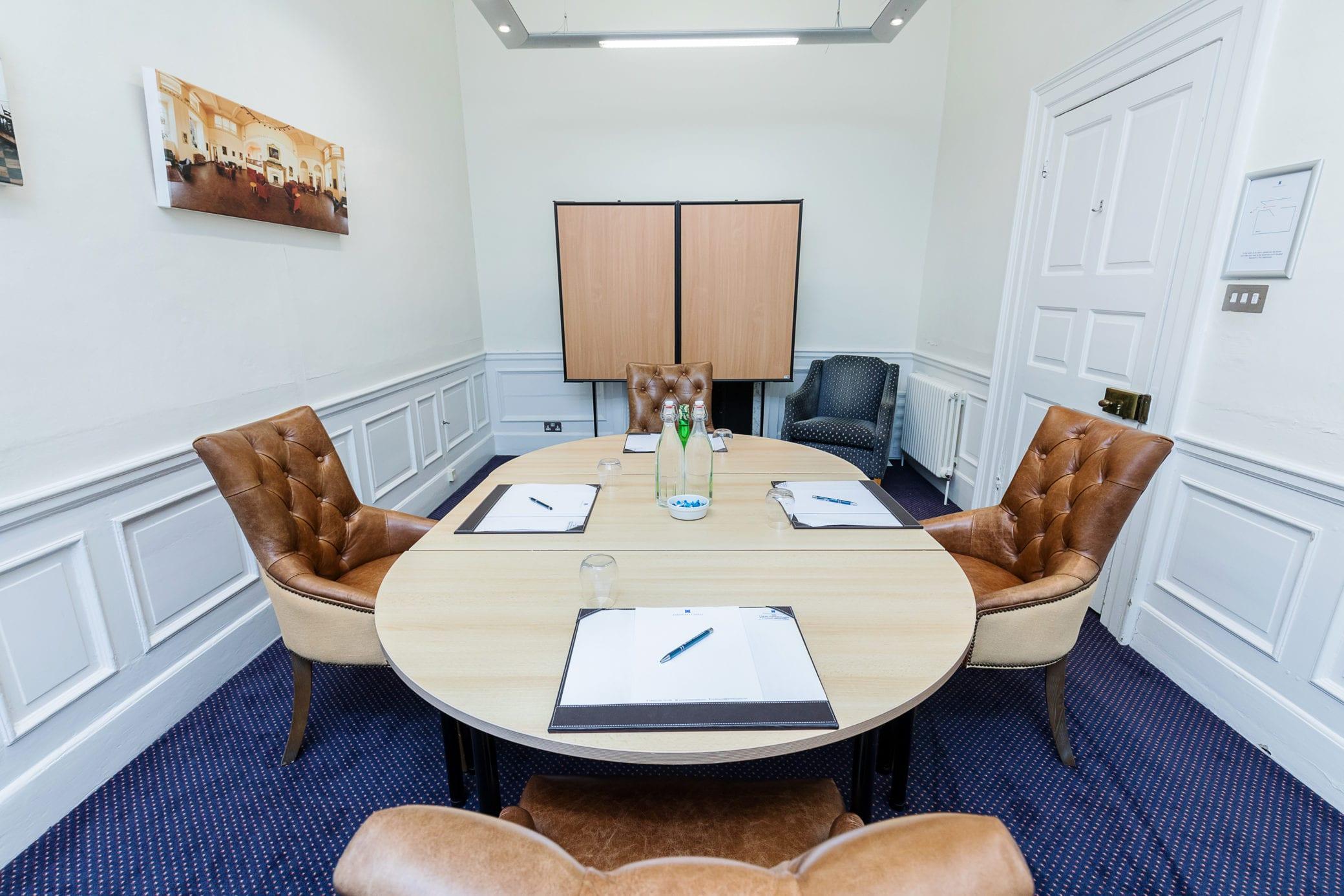 Small meeting room at Farnham Castle Surrey