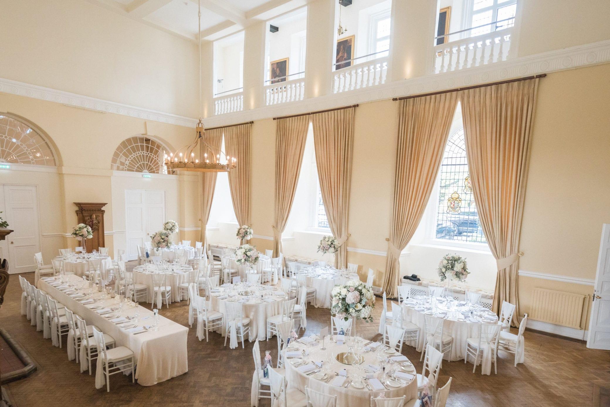 Large wedding reception venue Farnham Surrey
