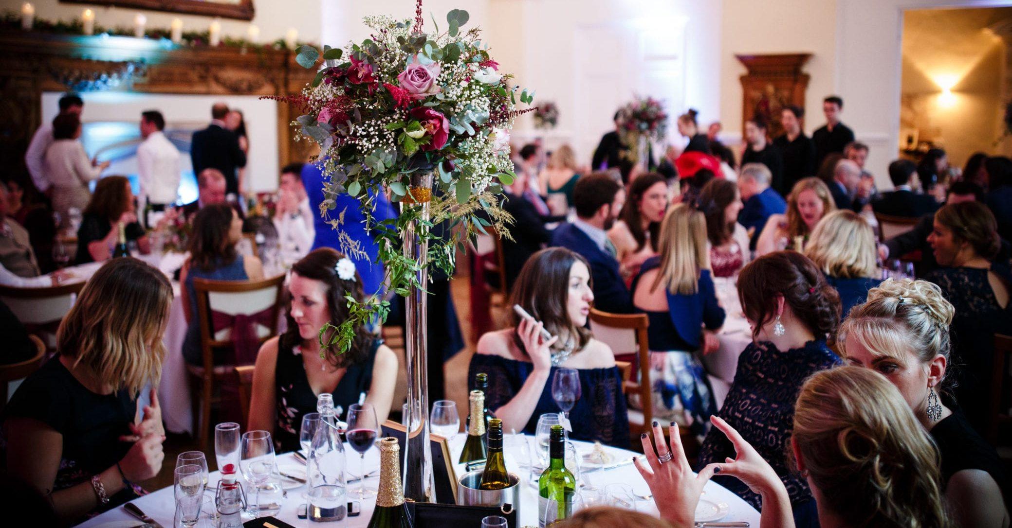 Large parties at Farnham Castle in Surrey