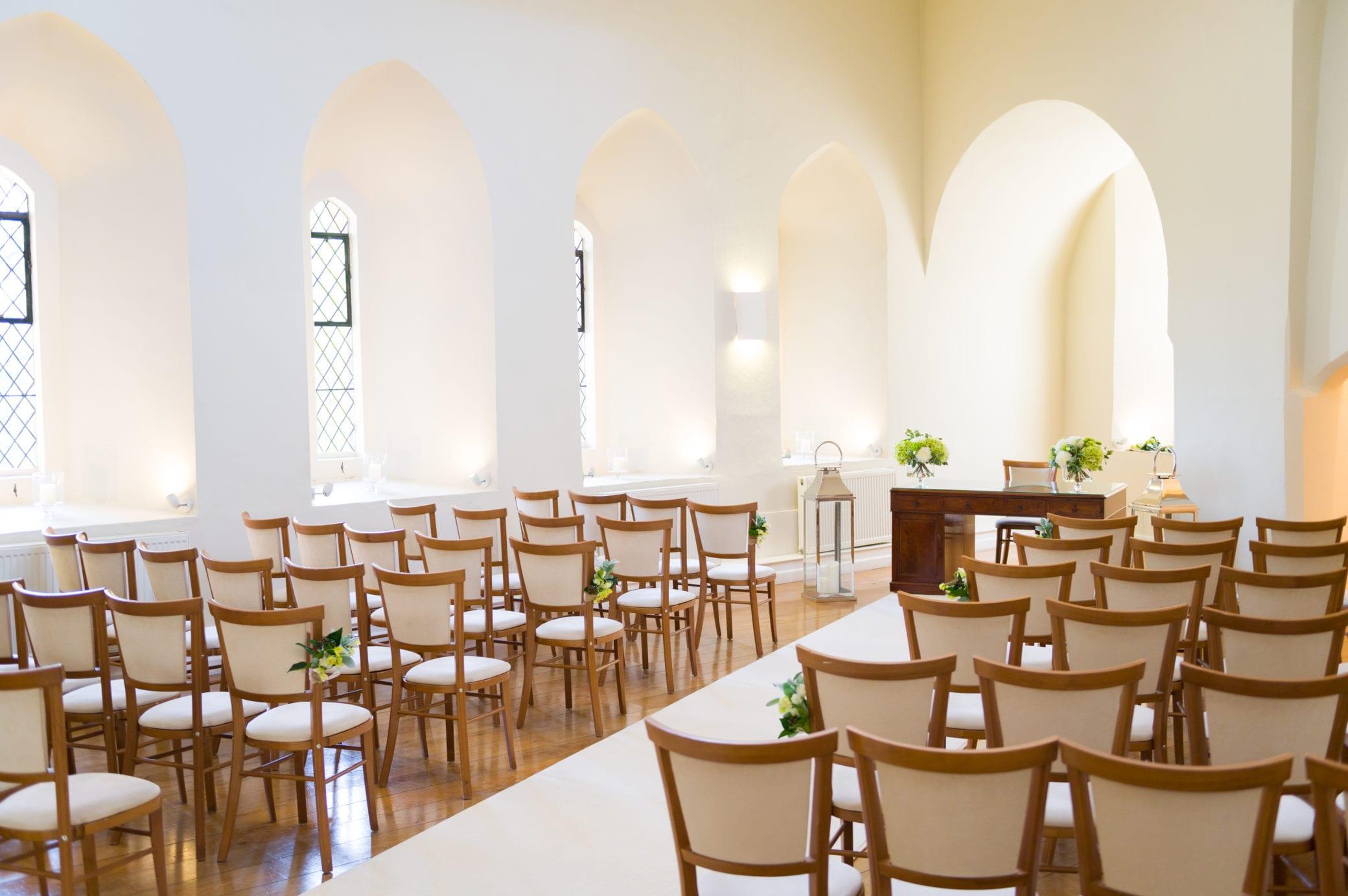 Mid week weddings at Farnham Castle in Surrey