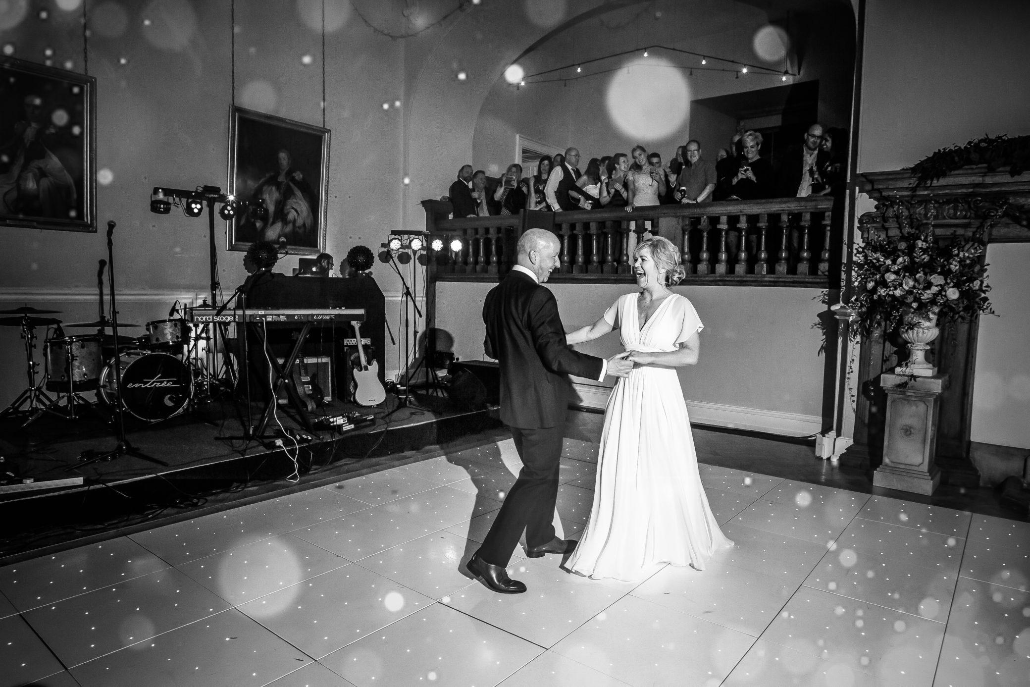 First wedding dancing at Farnham Castle