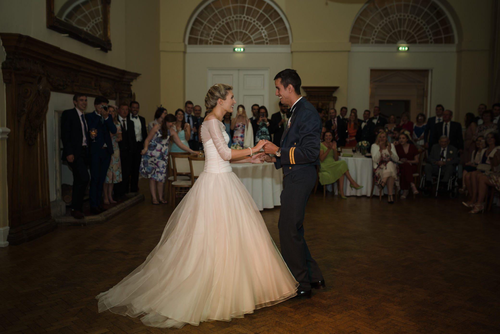 First dance wedding evening