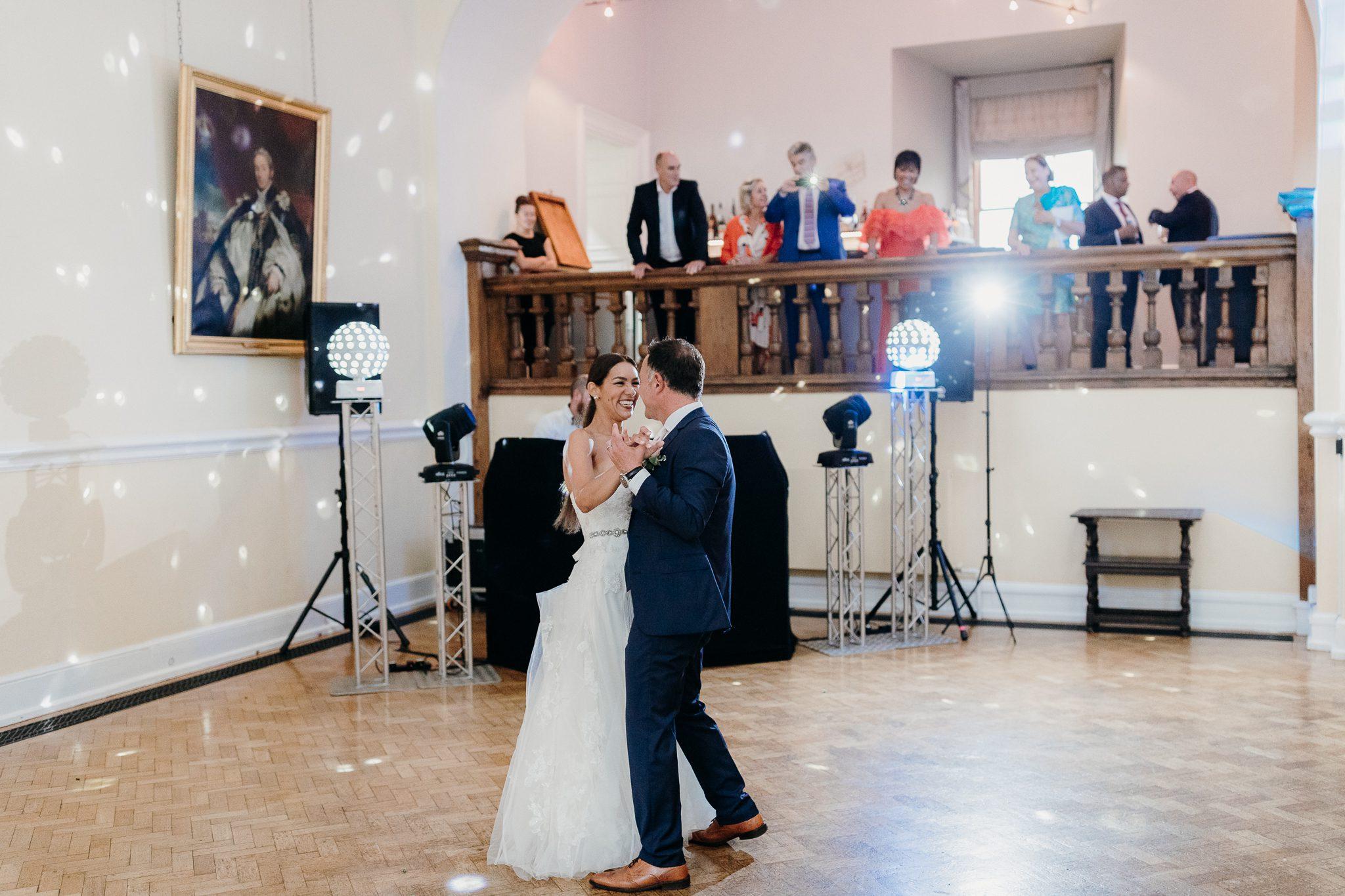 Romantic First Dance at Farnham Castle