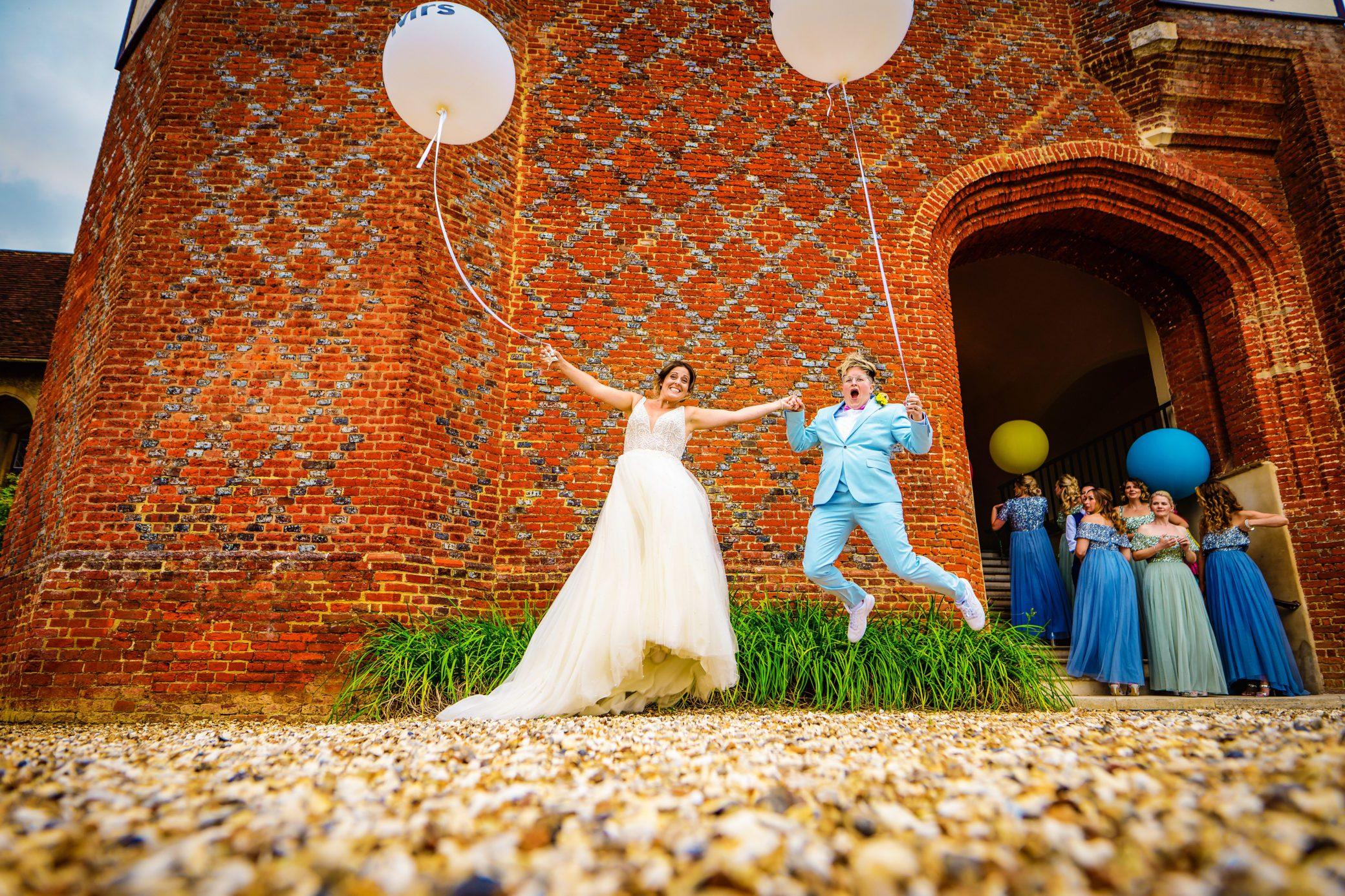 Wedding Couple at Farnham Castle